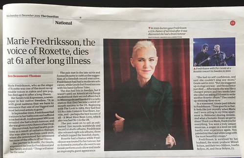 Marie Fredriksson in the Guardian