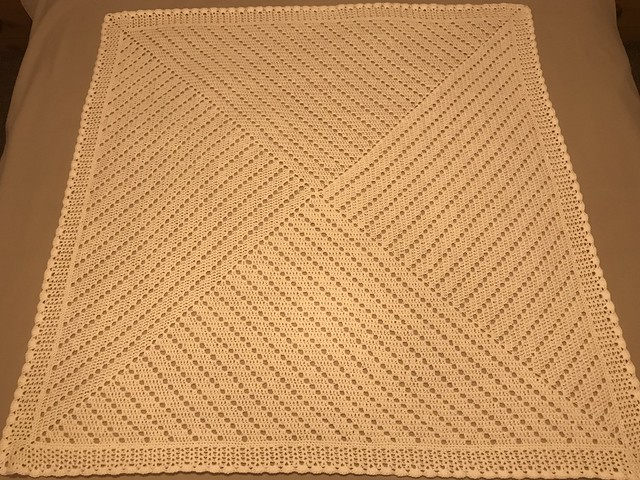 """Which way filet baby blanket 40""""square"""