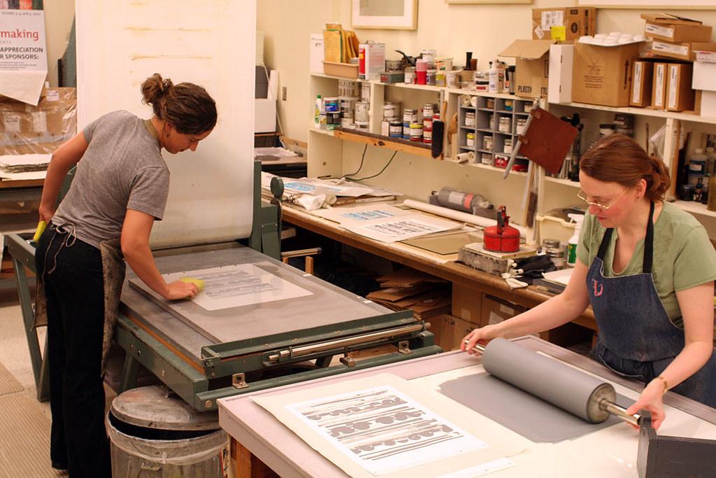 Julia Goos and Veda Rives printing run one