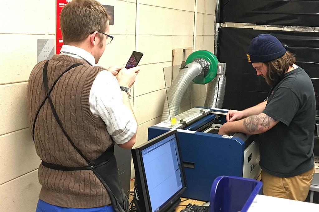 preparing laser cutter