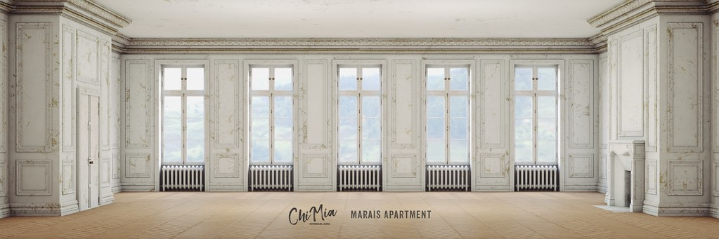 Marais Apartment in Royale White by ChiMia