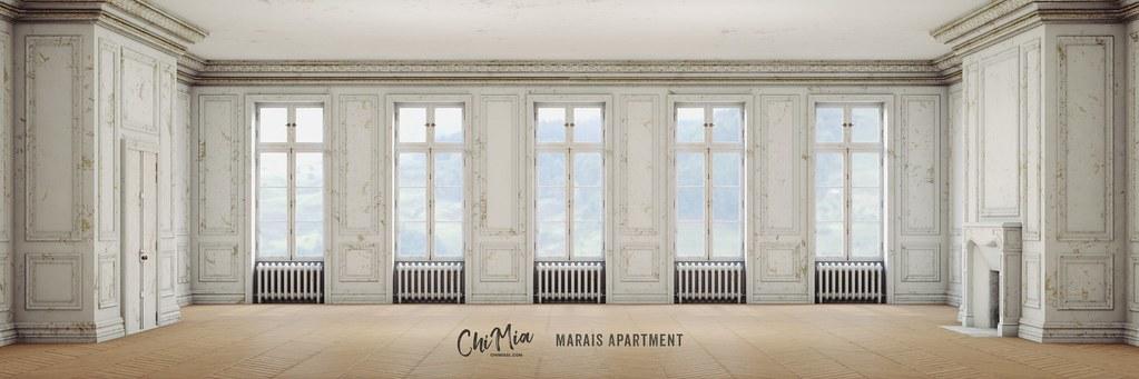 Marais Apartment in Royale White by ChiMia