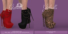 """Phedora for The Epiphany Gacha ~ """"Gabriella"""" ankle Boots ♥"""