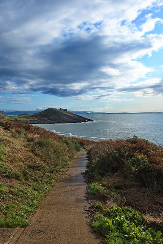 wales southwales uk footpath path cliff cliffwalks clouds water sea seaview seascape nature nikon d800
