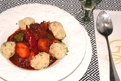 BEEF GOULASH & BREAD DUMPLINGS