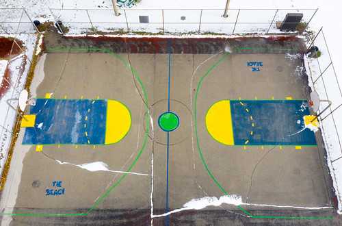Snowy The Beach Basketball Court
