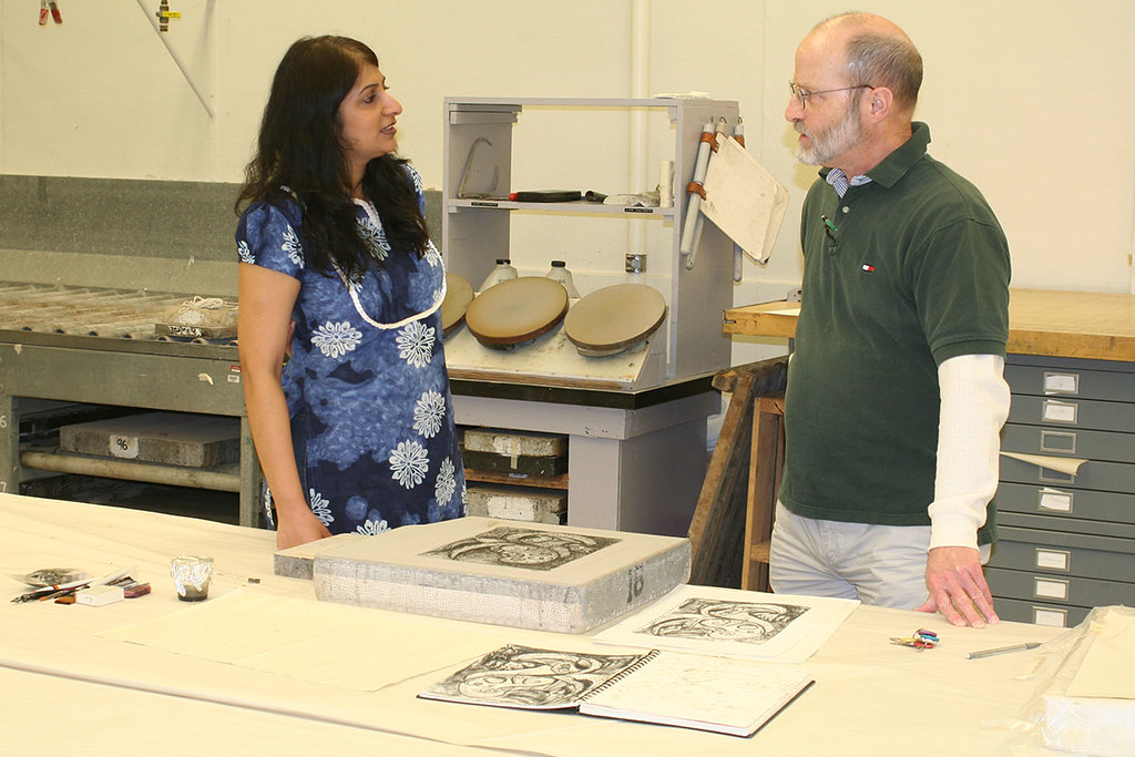 discussion with master printer