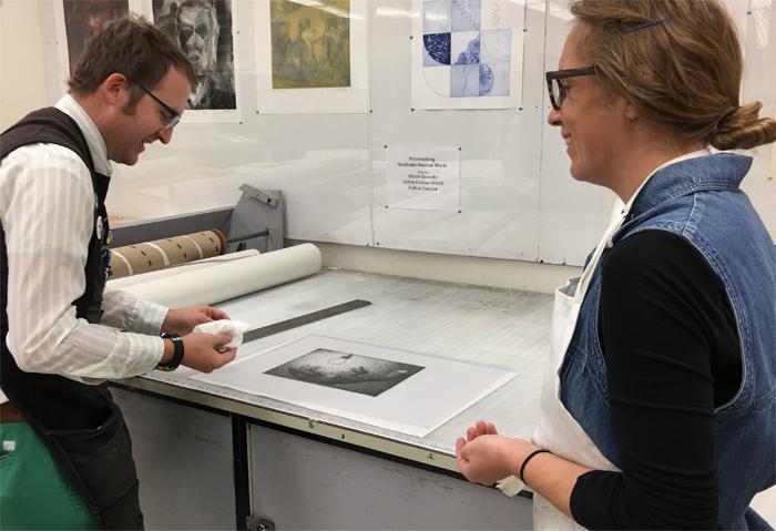 preparing drawing for darkroom