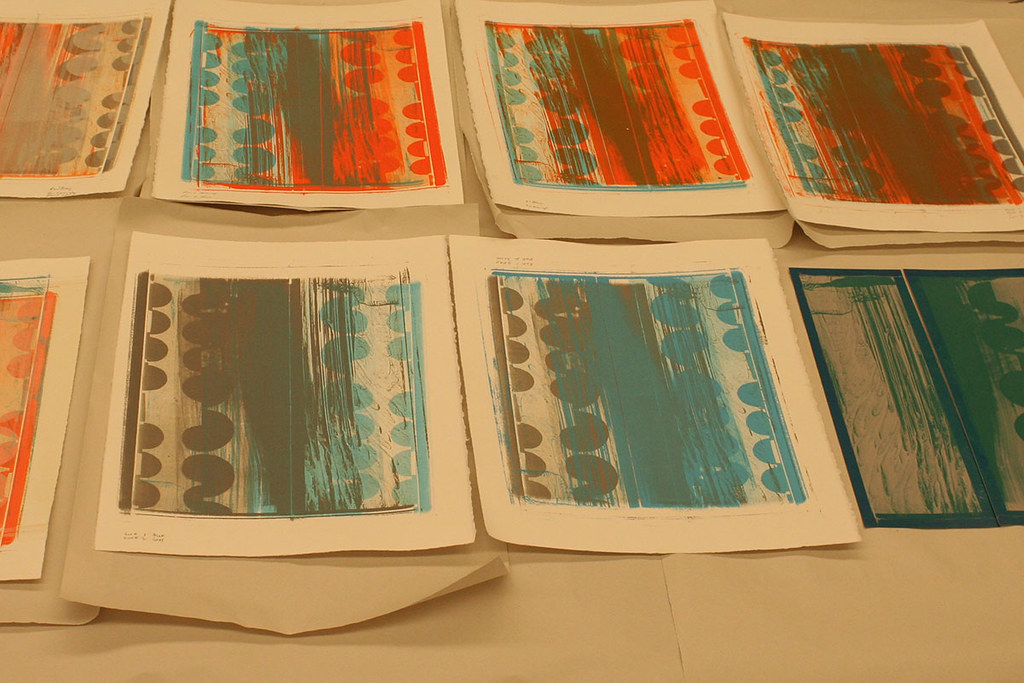 color tests of sample plates