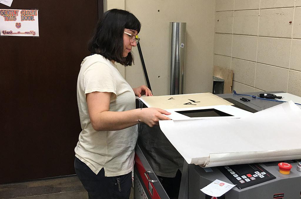 laser cutting prep