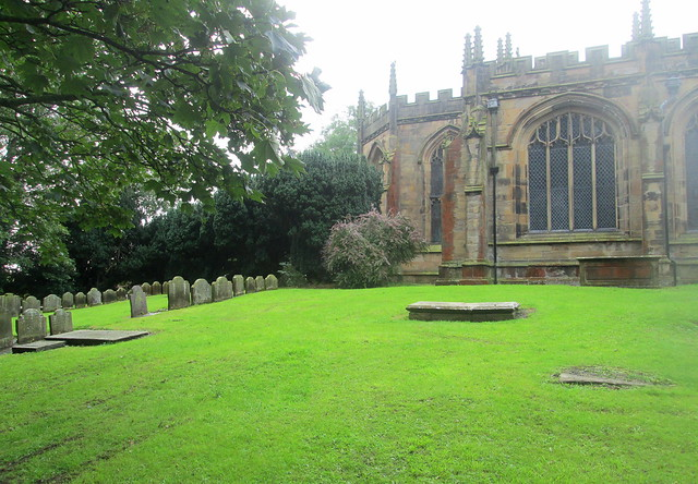 St Mary's Church, Mold, Wales, gravestones