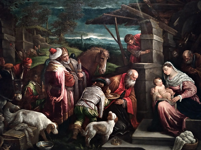 Adoración de los Magos (1575-1580). Jacopo y Francesco Bassano. Museu Nacional d'Art de Catalunya. Adoration of the Magi. National Art Museum of Catalonia