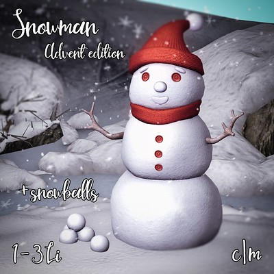 Snowman - limited advent gift!
