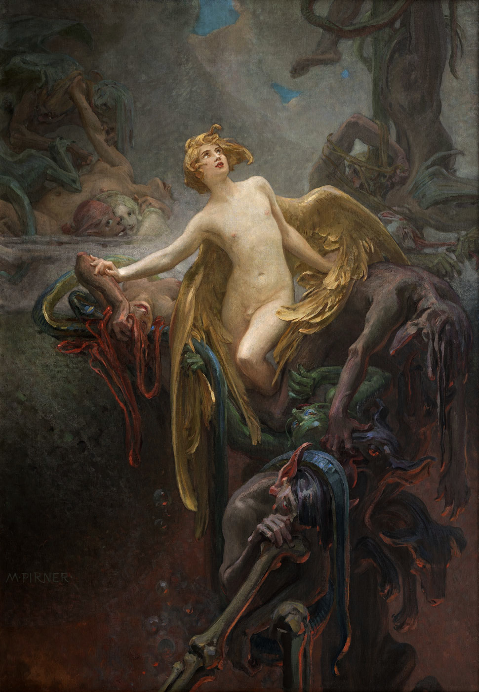 Maximilian Pirner - The Birth of Eros, 1890