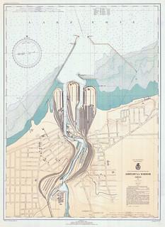 War Department Ashtabula Harbor Chart 1943