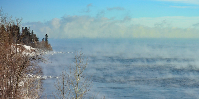 Steamy, icy Lake Superior