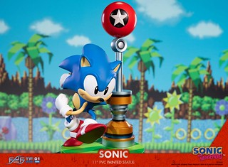 這才是我的藍色疾風!FIRST 4 FIGURES《音速小子》音速小子 PVC雕像(Sonic the Hedgehog Sonic Statue)