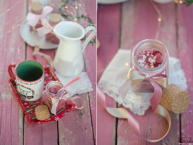 Preparato per cioccolata calda rosa