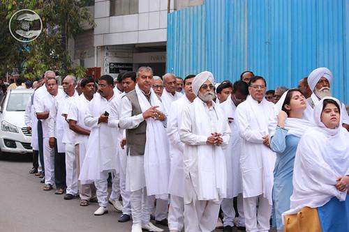 Volunteers of Sant Nirankari Mission led the Procession
