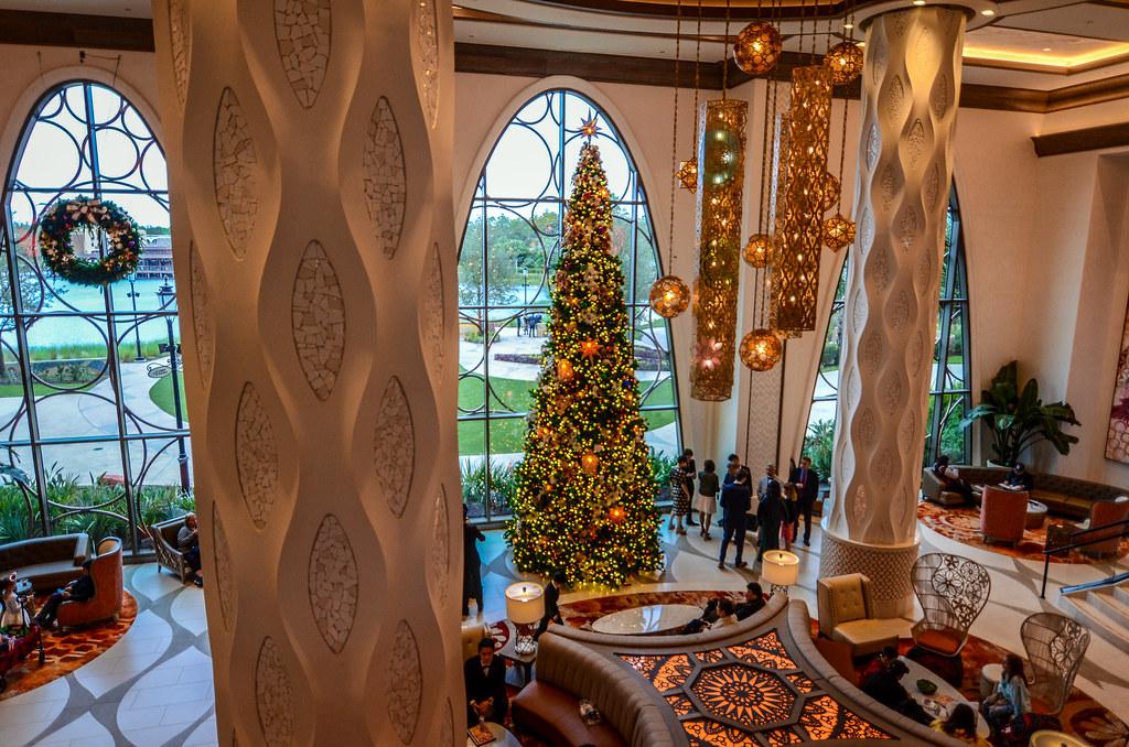 Coronado Springs Christmas tree lobby