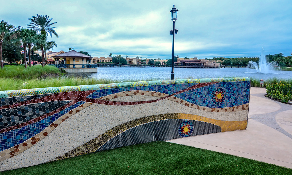 Coronado Springs mosaic wall water