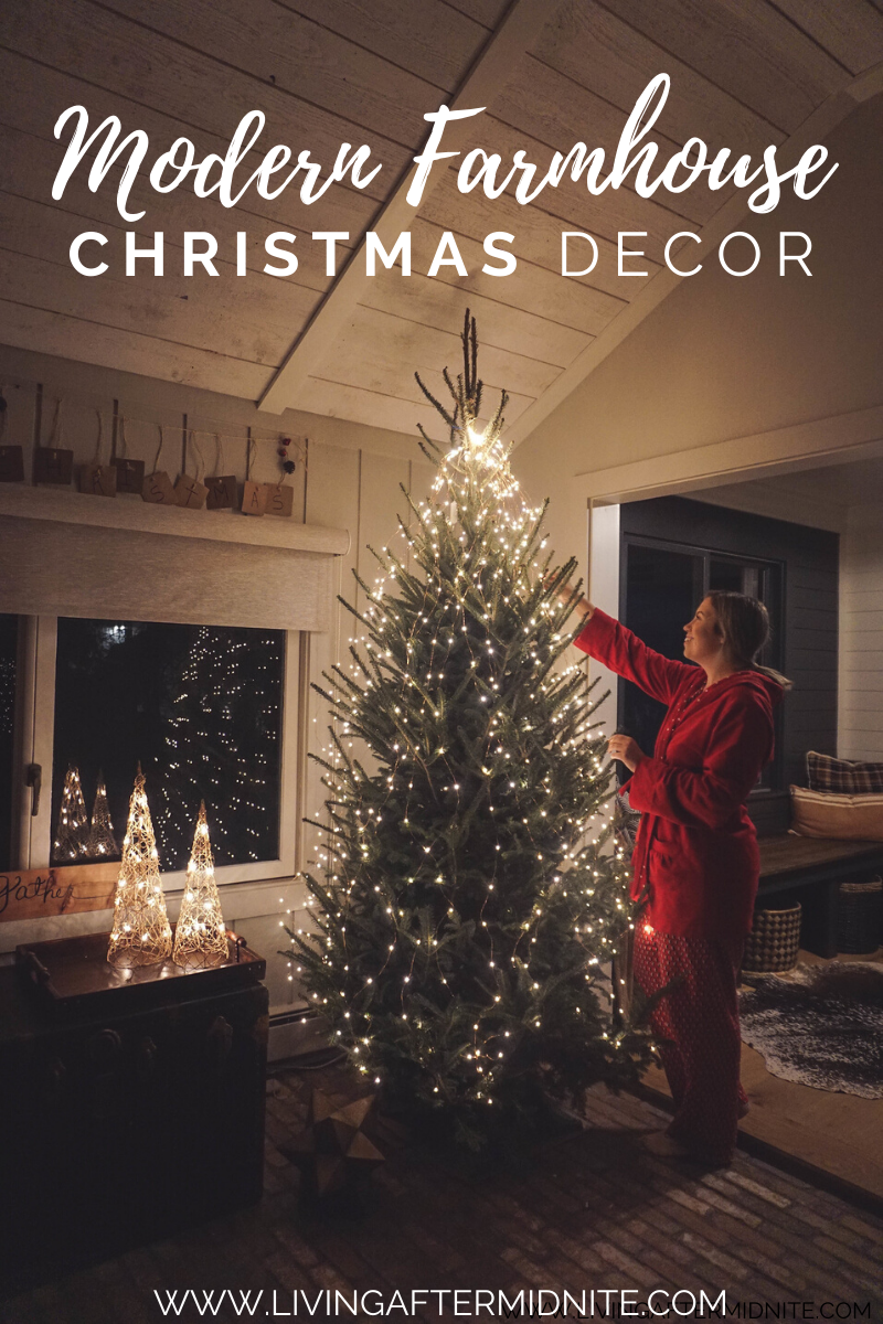 Just Lights Christmas Tree | Stargazer Cascade Falls Tree Lights Anthropologie Terrain Modern Farmhouse Christmas Decor Inspiration