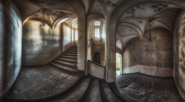 rotten staircase - forgotten castle stair