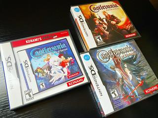 Castlevania DS trilogy.  #castlevania #castlevaniadawnofsorrow #castlevaniaportraitofruin #castlevaniaorderofecclesia #konami #nintendo #nintendods #retrogaming #videogames #retrogames #gamecollection #gameroom