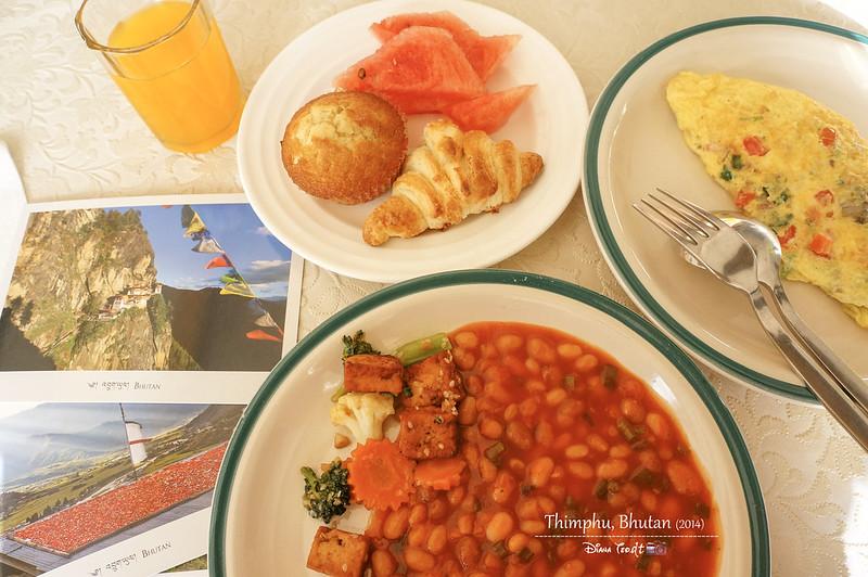 Bhutan Day 2 - Hotel Pedling Breakfast