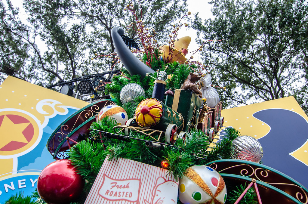 Dumbo Train Christmas Tree Trail Disney Springs