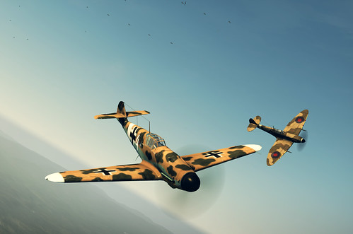 Wings of Prey (PC) - Me 109 G2 verses 'Spits' Over Sicily.