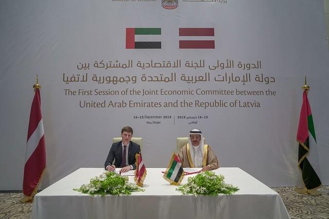 Latvijas-Apvienoto Arābu Emirātu Apvienotās ekonomiskās komitejas pirmā sēde