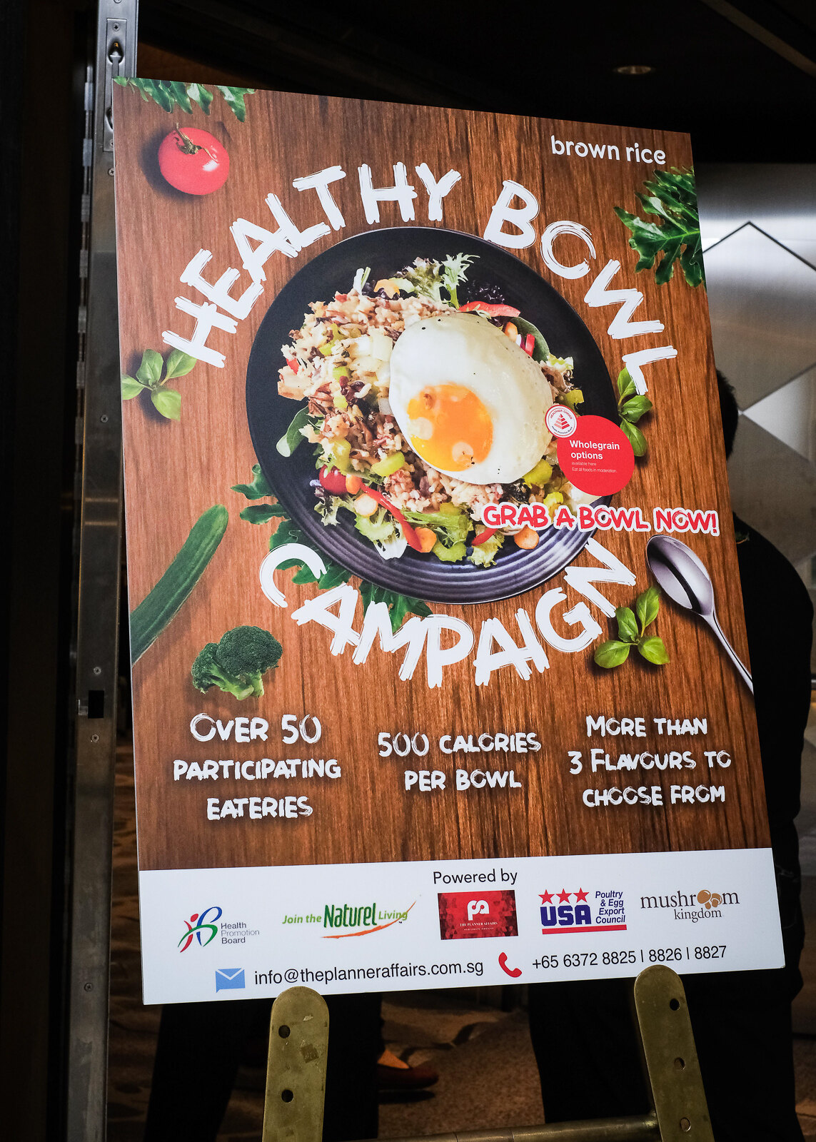 healthy bowl campaign poster