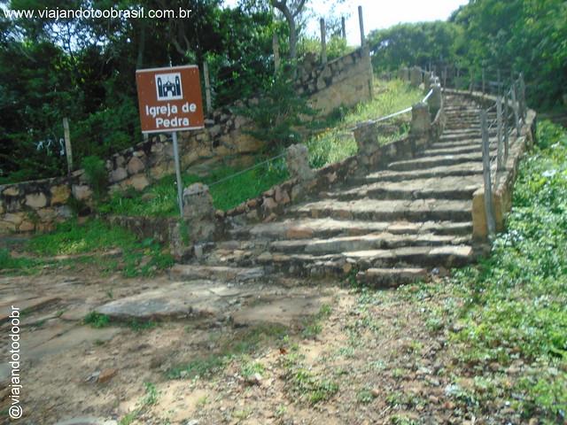 Poranga - Escadaria para Igreja de Pedra