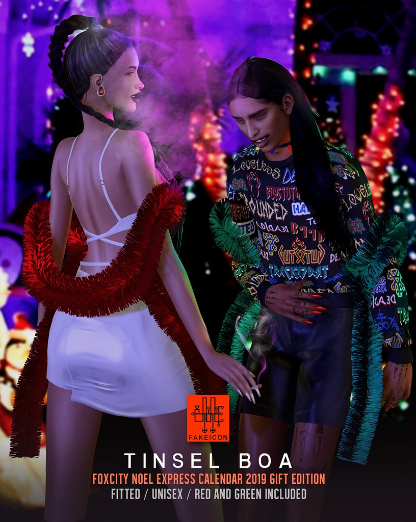 tinsel boa @ Foxcity Christmas calendar 2019