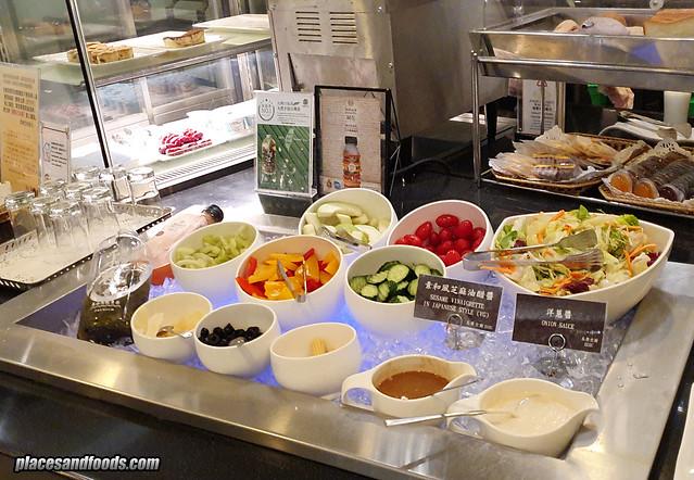 eva air infinity premium lounge salad