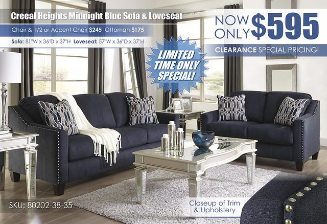 Creeal Heights Sofa & Loveseat_80202-38-35-T099