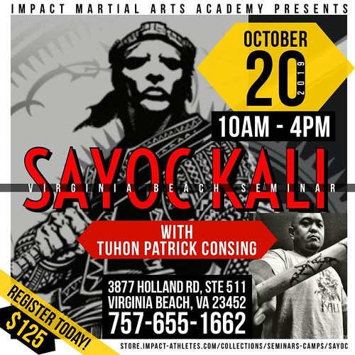 "Virginia Beach Seminar – SAYOC KALI: ""The Art Of The Blade"""