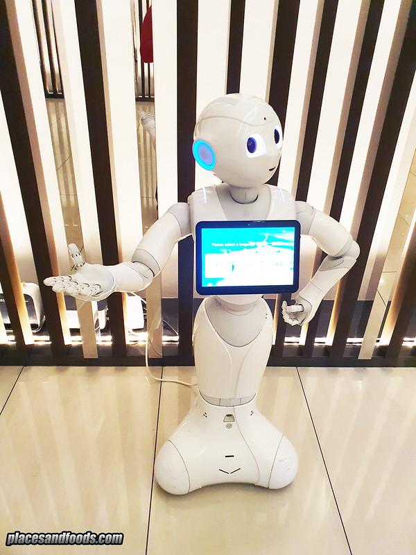 eva air infinity premium lounge robot