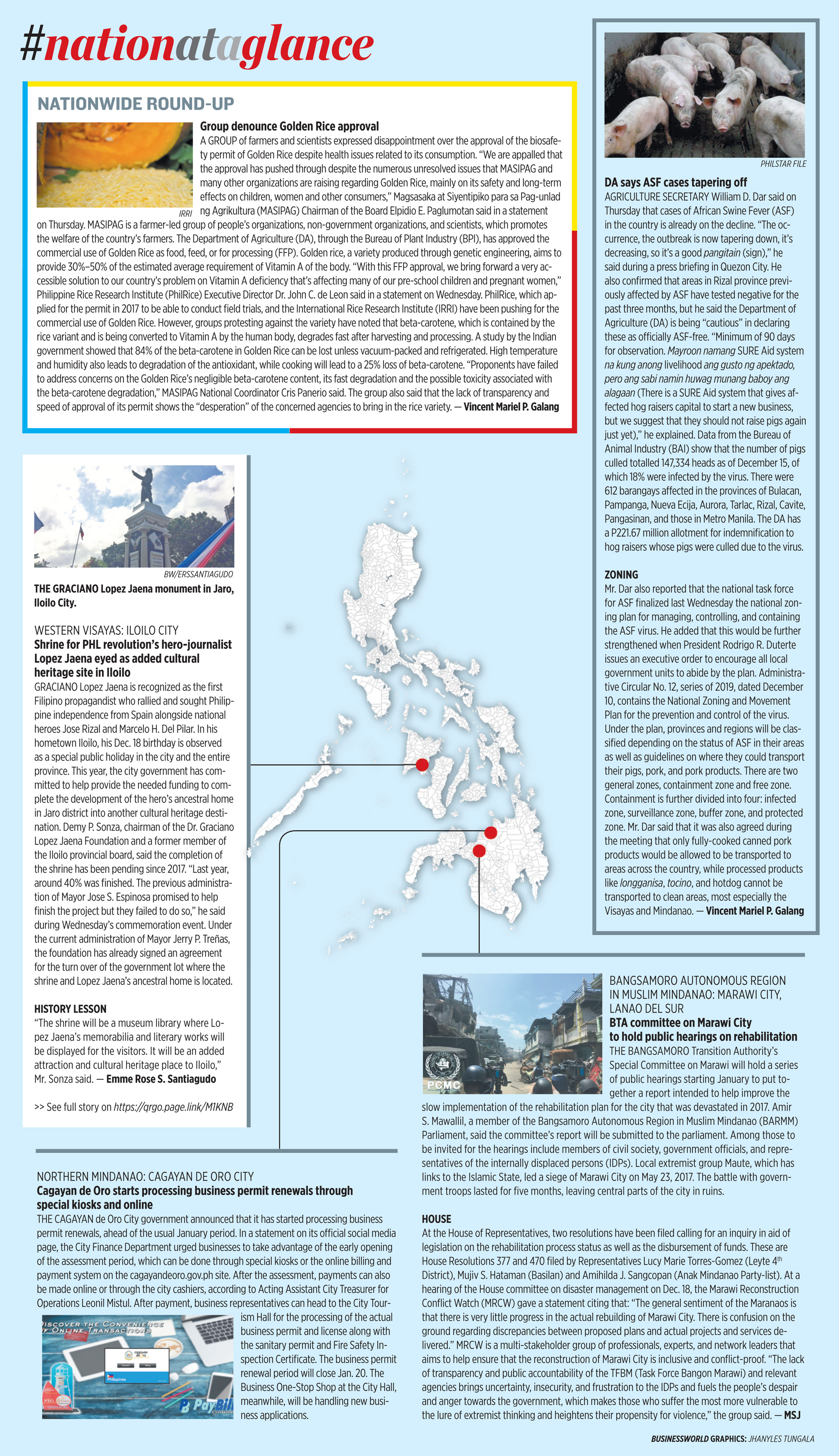 Nation at a Glance — (12/20/19)