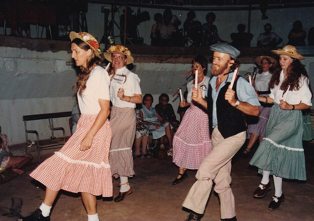 Clog Dancing in Darwin at East Point Gun Turret - c.1986-87
