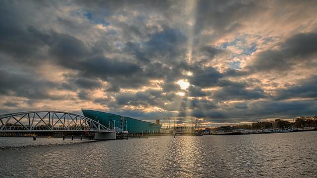 Sunset at NEMO-Amsterdam