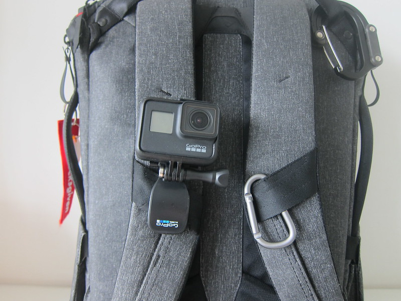 GoPro QuickClip - With GoPro HERO7 Black - On Bag