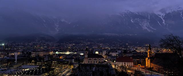 Blick vom Bergisel auf Innsbruck