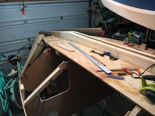 Test fit bilge panels