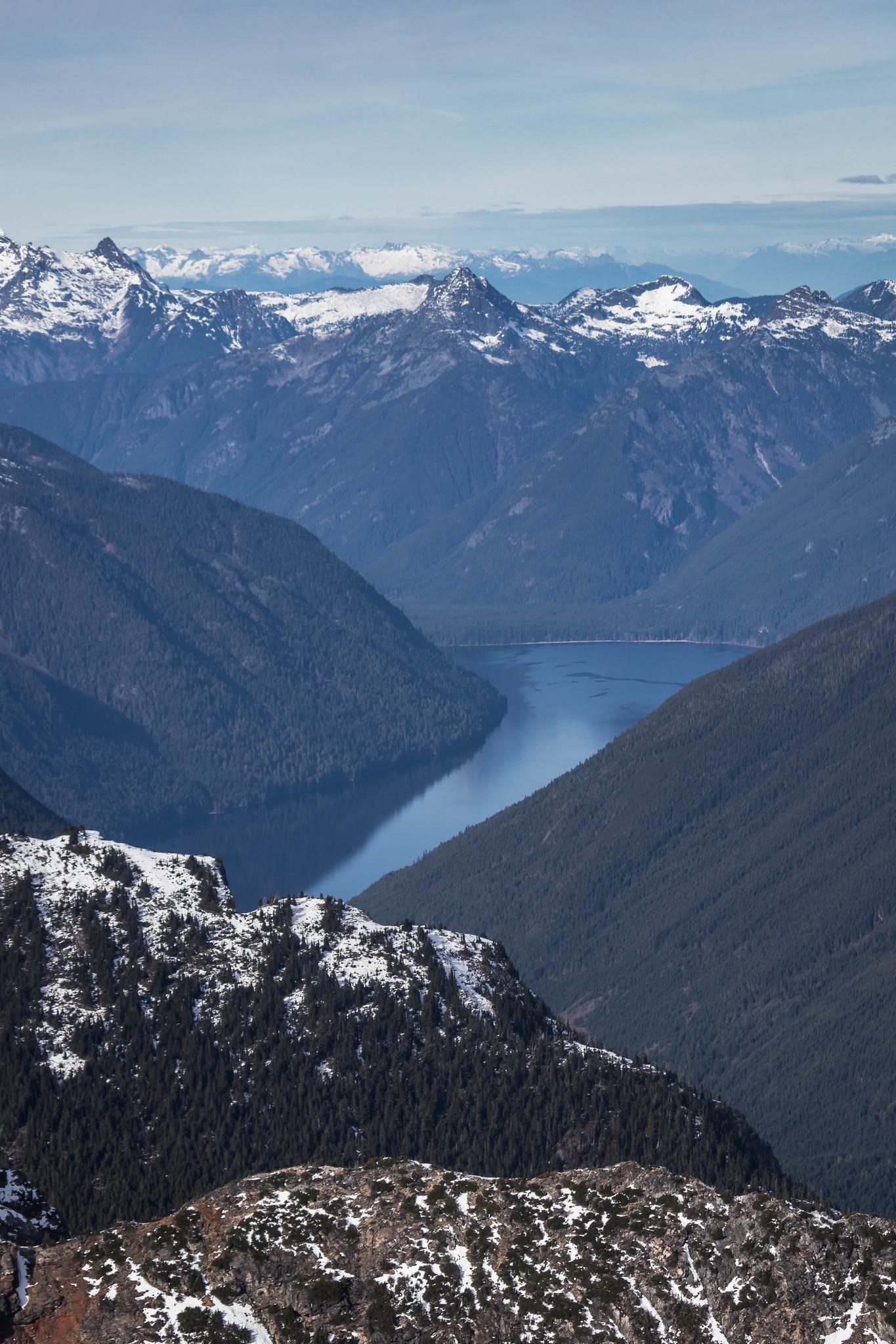 Chilliwack Lake from below Mad Eagle Peak