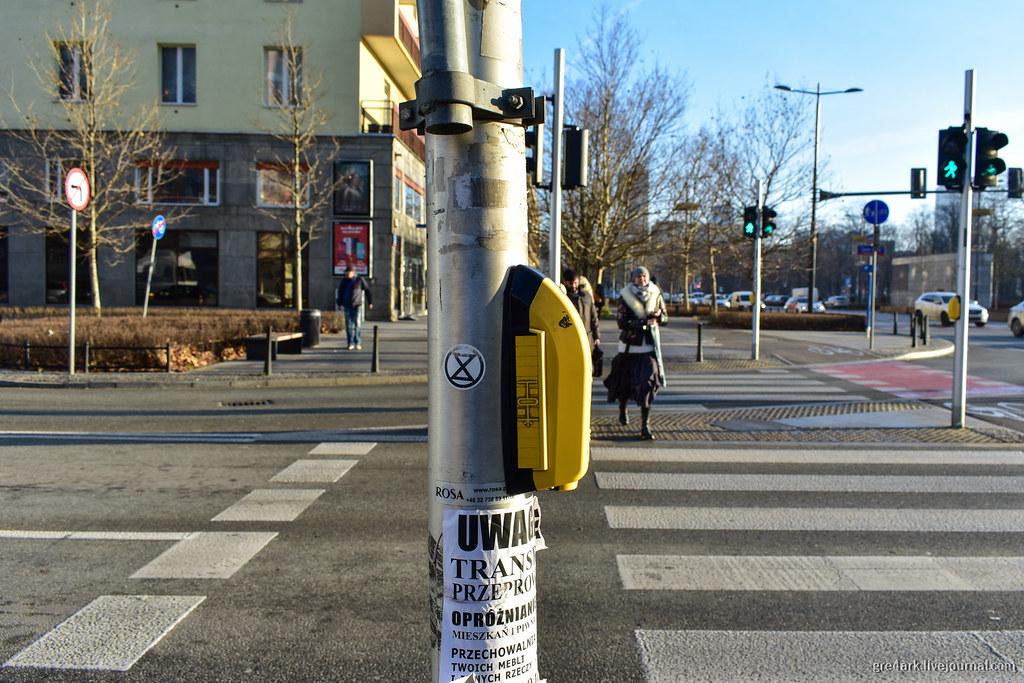 Варшава и кнопка трещоетки