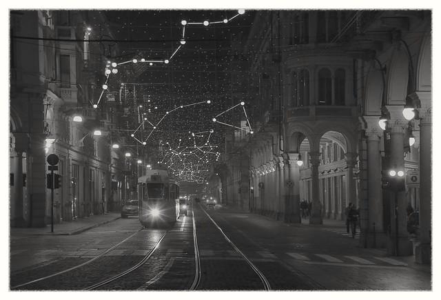 IMG_0528_7 - Torino, Pietro Micca Street. Under the stars.
