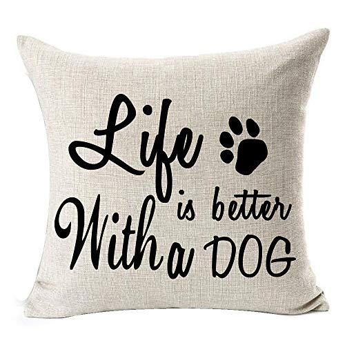 Life is better with a dog cushion