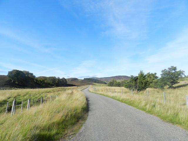Road through Abersky, Strathnairn, Sep 2019